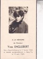 COURT-SAINT-ETIENNE Yves ENGLEBERT 1948 Accident à Baisy-Thy Souvenir Mortuaire Photo - Décès