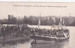 CPA (82) MOISSAC Fêtes De Pentecôte Bénédiction Des Eaux Du Tarn Tradition - Moissac