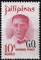 Philippines 1970 - Oficial : Mariano Ponce ( Mi D60 - YT S96 ) MNH** - Philippines