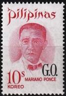 Philippines 1970 - Oficial : Mariano Ponce ( Mi D60 - YT S96 ) MNH** - Filipinas