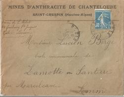 Enveloppe Publicitaire Mine D'anthracite De Chanteloube - Publicités