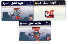 Egypt - 3 Old Cards - NT - Cartoon - 048G - 070F - 010? - Egypt