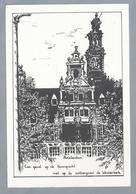 NL.- AMSTERDAM. Een Gevel Op De Herengracht Op De Achtergrond De Westerkerk. - Schone Kunsten