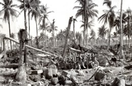 WWII Los Negros Groupe De Soldats RAAF Aeroport De Momote Ancienne Photo 1944 - War, Military