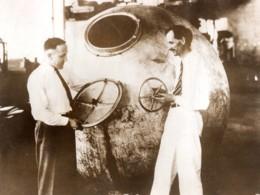 USA Jean Piccard & Lieutenant Settle Vol Stratospherique Aviation Ancienne Photo 1933 - Aviation