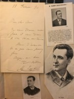 Lettre Autographe De 1890 De Alexandre Taskin De L'Opéra Comique (chanteur Scénique)+ Portraits- Collection Chenu Amiens - Autographs