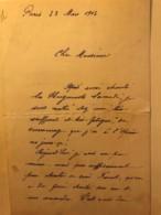 Lettre Autographe De 1903 D'Auguste Affre - Ténor De L'Opéra + Coupures Journaux + Portraits- Collection Chenu Amiens - Autographes