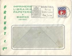 Enveloppe Publicitaire Prévôt & Cie Imprimerie Librairie Papeterie à Beauvais - Publicités