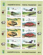 Tajikistan.2013 PCC. Postal Transport. Sheetlet Of 8 ( 2 Sets)   Michel # 623-26  KB - Tayikistán