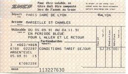 Paris Gare De Lyon - Marseille St Charles, 1991 - Chemins De Fer