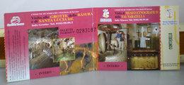 Biglietto Ingresso Grotte Della Basura E Santa Lucia Inf. Toirano Museo Etnografico Val Varatella - Tickets D'entrée