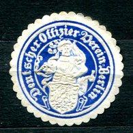 """ALLEMAGNE - Siegelmarke """"Deutscher Offizier Verein Berlin"""" - Erinnophilie"""
