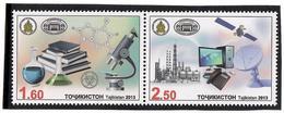 Tajikistan.2013 Academy Of Science. Pair Of 2v: 1.60, 2.50  Michel # 621-22 - Tagikistan