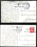 PAQUEBOT POSTED AT SEA On 2 Shipcards Of S.s. Nieuw Amsterdam 1950 And 1952 - Marcophilie