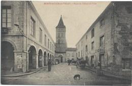 43 - Montfaucon-en-Velay - Place De L'hôtel De Ville - Animation, Café Et Publicité - 1910 TBE - Montfaucon En Velay