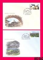 MOLDOVA 2018 Ancient Medieval Architecture Fort Fortress & Rock Cave Monastery Religion Mi1054-1055 Sc990-991 2 FDC - Moldova