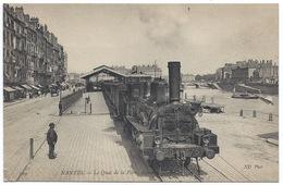 NANTES - Locomotive En Gros Plan Quai De La Fosse - 1910 TBE - Nantes