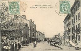 07 SAINT AGREVE La Place Du Marché Et La Grande Rue CPA Sépia 3769  L'Ardèche Illustrée Margerit-Bremond - Saint Agrève