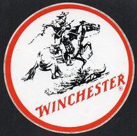 WINCHESTER * ARME FUSIL CHASSE COW BOY * AUTOCOLLANT A650 * - Autocollants