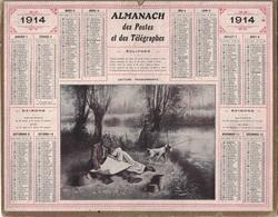 ALMANACH DES POSTES 1914 - FORMAT LIVRET CARTONNE SIMPLE - INCOMPLET - VERSO INFORMATIONS FOIRES ET MARCHES SEINE&OISE - Big : 1941-60