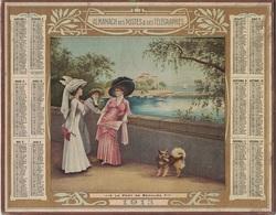 ALMANACH DES POSTES 1913 - FORMAT LIVRET CARTONNE SIMPLE - INCOMPLET - VERSO INFORMATIONS FOIRES ET MARCHES D'ISERE. - Calendars