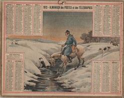 ALMANACH DES POSTES 1912 - FORMAT LIVRET CARTONNE SIMPLE - INCOMPLET - VERSO UNE PAGE FOIRES ET MARCHES DE SEINE & OISE - Calendars