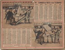 ALMANACH DES POSTES 1911 - FORMAT LIVRET CARTONNE SIMPLE - INCOMPLET - VERSO UNE PAGE FOIRES ET MARCHES DE SEINE & OISE - Calendars