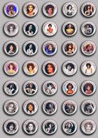 35 X WHITNEY HOUSTON Music Fan ART BADGE BUTTON PIN SET 4 (1inch/25mm Diameter) - Music