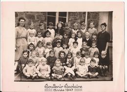 CARTE PHOTO SCOLAIRE 1947 - Sonstige Gemeinden