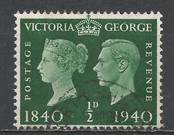 Great Britain 1940. Scott #252 (U) Victoria And George VI * - 1902-1951 (Rois)