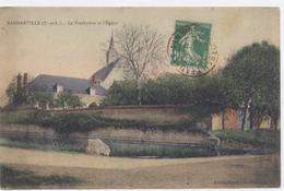 SANDARVILLE, Près Ermenonville, Le Presbytère Et L'Eglise-1922 - Bon état - Frankrijk