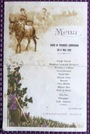 Champagne Binet Menu Diner De Première Communion Du 8 Mai 1932 - Menus