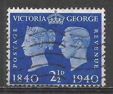 Great Britain 1940. Scott #256 (U) Victoria And George VI * - 1902-1951 (Rois)