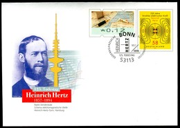 07330) BRD - USo ? - OO Gestempelt EVST 53113 BONN - 12C Neben 58C    Heinrich Hertz, Ausgabe: 02.01.2019 - Covers - Used