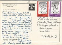 Peru 1982 Lima Inca Messenger Guaman Poma Text Viewcard - American Indians