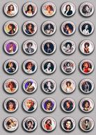35 X WHITNEY HOUSTON Music Fan ART BADGE BUTTON PIN SET 5 (1inch/25mm Diameter) - Music