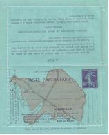 17104- CL Pneu Marseille 30c Semeuse Camée Violet Neuve, Papier Bleu, Parfait état - Entiers Postaux