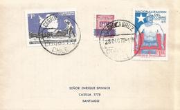 Chile 1971 Cerrolacruz Antarctic Treaty Copper Mining Cover - Tratado Antártico