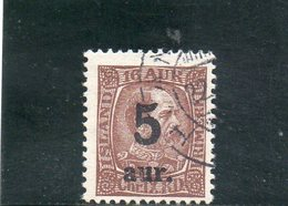 ISLANDE 1921-22 O - 1918-1944 Administration Autonome