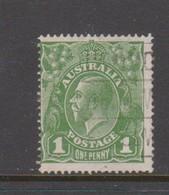 Australia SG 76 1924 King George V,1d Green,Single Watermark, Used - 1913-36 George V: Heads