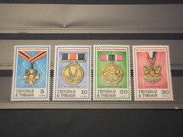 TRINIDAD TOBAGO - 1972 MEDAGLIE 4 VALORI - NUOVI(++) - Trindad & Tobago (1962-...)
