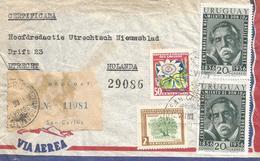 Uruguay 1957 San Carlos Journalist José Pablo Torcuato Batlle Y Ordóñez Passion Fruit Tree Registered Cover - Uruguay