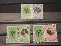 ST. LUCIA - 1981 LADY DAINA 3 VALORI - NUOVI(++) - St.Lucia (1979-...)