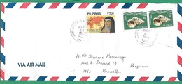 ! - Philippines (Pilipinas) - Enveloppe Avec 3 Timbres - Envoi Vers Bruxelles - Cachet De 1983 - Philippines