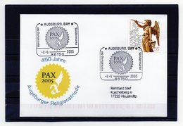 Deutschland, 2005, Brief (echt Gelaufen) Mit Michel 2488 Und Sonderstempel, Augsburger Religionsfriede - Covers