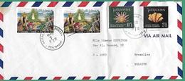 ! - Philippines (Pilipinas) - Enveloppe Avec 4 Timbres - Envoi Vers Bruxelles - Cachet De 1972 - Philippines