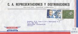 Venezuela 1965 Caracas Overprint Dag Hammarskjöld Peace Nobel Prize UIT Cover - Dag Hammarskjöld