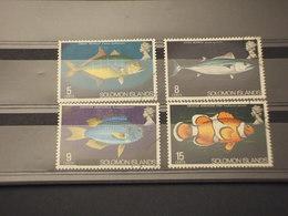 SOLOMON - 1972 PESCI 4 VALORI - TIMBRATI/USED - Isole Salomone (1978-...)