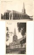 Meulebeke : Kerk En Oud Kerkhof ---- 2 Kaarten - Meulebeke