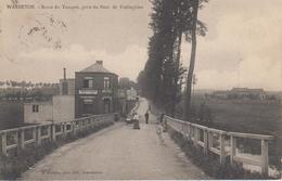 """CPA Précurseur Warneton - Route Du Touquet, Prise Du Pont De Frelinghien (animation Devant """"A La Belle Vue"""") - Autres"""